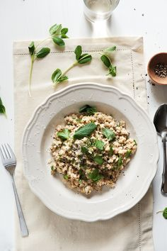 pearl barley risotto (recipe from @Peter G) - replace the chicken stock with vegetable stock