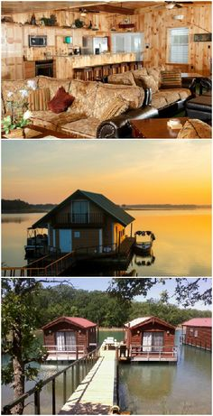 F is for floating cabins at Lake Murray. These impressive cabins that are literally right on the water at one of Oklahoma's most popular state parks are the best place to stay when visiting Ardmore. #OklahomaAtoZ