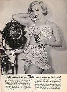 0 Marilyn Monroe ~ Coca Cola, 1951.