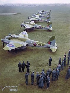 RAF Forever — beautifulwarbirds:   A great colorized photo of...
