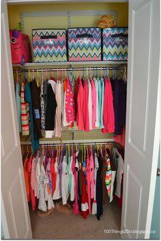 Purging for Back-to-School, closet organization, organized closet