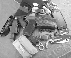 CCW Pocket Dump Submitted By: Eli Glock 17 that I stippled and chopped to 19 length, running an Inforce APL and riding in an Aegis Armory li...