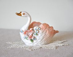Vintage Norcrest Swan Dish by CollectiveHeart on Etsy, $12.00