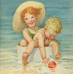 Children at the Beach by Jessie Willcox Smith