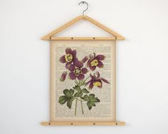 """Columbine print, Printable botanical art, Aquilegia, Botanical print, Print on dictionary, Vintage art print, Instant download, 8x10 11x14.  All dictionary prints: https://www.etsy.com/shop/LizasDictionaryArt  YOU WILL RECEIVE 300dpi RESOLUTION 2 JPG FILES!!!  1 JPG file at 8X10 inches; 1 JPG file at 11X14 inches.  IF YOU PREFER ANOTHER SIZE of this print you may request a custom order and I will resize it. Just press the button """"Request custom order"""", write dimensions and..."""