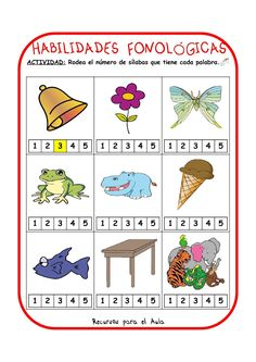 Centro Deusto de Psicopedagogía y Logopedia: CONCIENCIA FONOLÓGICA Speech Language Therapy, Speech And Language, Speech Therapy, Dual Language, Sign Language, Abc Centers, Reading Centers, Spanish Teaching Resources, Spanish Activities