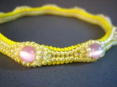Bangle Bracelet with Fiber Optic Rounds