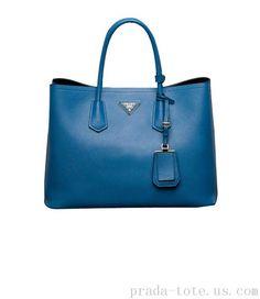Discount #Prada Saffiano Cuir Double Tote Bag onnline sale