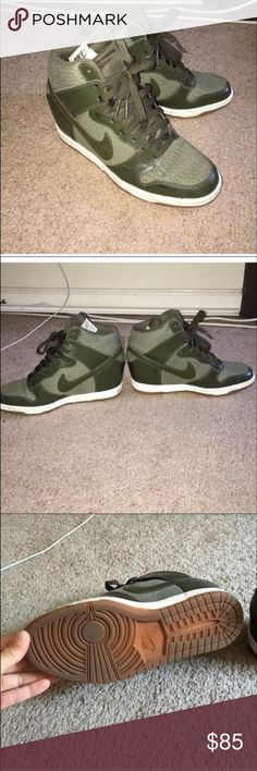 Nike Hunter Green Wedges In great condition Nike Shoes Sneakers