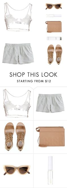 """""""You Lemon"""" by virty8 ❤ liked on Polyvore featuring For Love & Lemons, J.Crew, Billabong, 3.1 Phillip Lim, Quay, Lord & Berry, Calvin Klein, white, lace and shorts"""