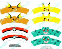 Pokemon Pikachu inspired Cupcake Wrapper by FancyAndFunFamily