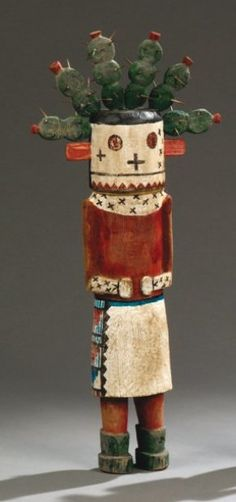 YUNGYA, KACHINA Cactus Hopi. Hauteur : 34 cm