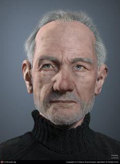 CGTalk - Old man portrait, Frederic Scarramazza (3D) Amazing french artist! Bravo