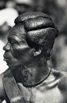 Africa | Man of the Banza in Province de l'Equateur (now Equator Province, Democratic Republic of the Congo). | © Casimir Zagourski African postcards, 1924-1941 (inclusive). Manuscripts & Archives, Yale University