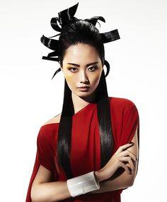Vivienne Mackinder Long Black Hairstyles