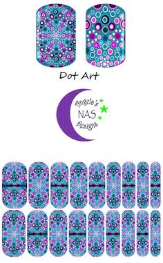 Dot Art Nails. Jamberry Nail Art Studio. Angela's NAS Designs.