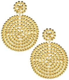 Shop the Lisi Lerch Gold Disk Earring and Lisi Lerch Jewelry at HAUTEheadquarters.com