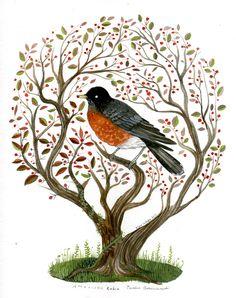 Robin-the Tiny Aviary