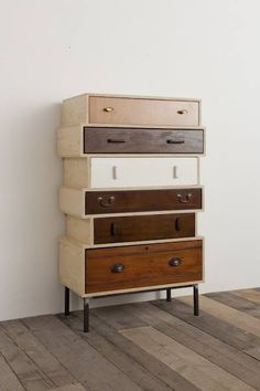 Made out of old drawers. Furniture design DIY