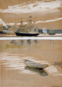 Albert Edelfelt - Sailboats in Haikko Bay 1891