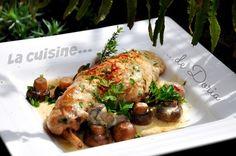 Cuisses de lapin au vin blanc et champignons de Paris