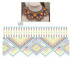 Natali Khovalko Diy Necklace Patterns, Beaded Jewelry Patterns, Beading Patterns, Beaded Crafts, Bead Jewellery, Bead Crochet, Beading Tutorials, Loom Beading, Bead Art