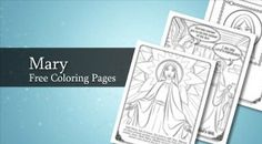 Free Mary coloring pages for the Feast of the Assumption