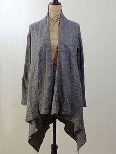 ART TO WEAR Lagenlook Eileen Fisher sweater artsy gray designer Italian yarn S #EileenFisher #Cardigan #EveningOccasion