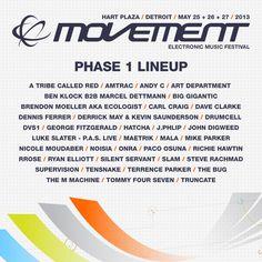 DEMF 2013   DEMF 2013 Lineup, Movement 2013 Lineup