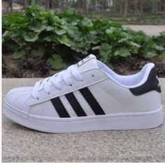 on sale 4b35b 30095 New Women s Fashion Leather Casual Lace Up Sneakers Trainer Shoes-Superstar