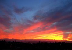 Pôr-do-sol em Novo Hamburgo / RS.