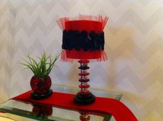 Red & Black  LED Doll Lamp  For Barbie by NanasBarbieFurniture, $15.00