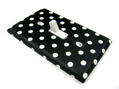 Black and White Polka Dot Light Switch Cover by ModernSwitch, $6.00  For my daughter when she gets here :)