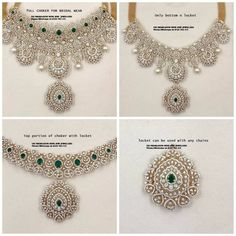 These Detachable Diamond Jewellery Designs Will Blow Your Mind! • South India Jewels Diamond Choker, Diamond Jewelry, Necklace Designs, Jewelry Collection, Crochet Necklace, Chokers, Jewelry Design, Jewels, Crochet Collar