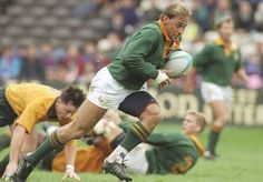 Andre Joubert scores for South Africa