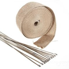 Fiberglass Wrap Pipe Turbo Tape High Heat Exhaust Insulating Tie