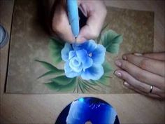 How To Paint Roses - Folk Art - One Stroke Luz Angela´s Technique - YouTube