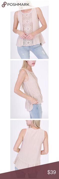 Crochet Top🌸🌿 So soft! Very easy to wear. Nude Crochet Top. 5b411b9c8