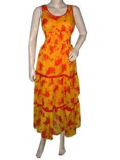 Bohemian Dresses Orange Floral Printed Summer Long Maxi Dress for Womens mogulinterior,http://www.amazon.com/dp/B00E57RNO0/ref=cm_sw_r_pi_dp_lTD8rb0E2XAESX7W