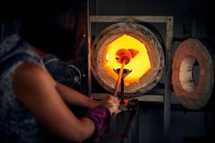 Amanda Notarianni and Charlie Macpherson, glass artists at Notarianni Glass in Poundbury in Dorset See more of The Artisans series as we showcase craftspeople in their workplaces Pumpkin Carving, Table Lamp, Artists, Glass, Hot, Pictures, Home Decor, Photos, Lamp Table