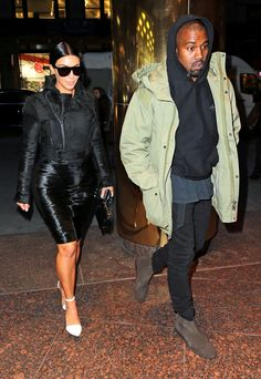 KIM KARDASHIAN & KANYE WEST The E! star and her hip-hop mogul husband step out in New York City.