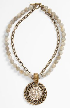 FRENCH KANDE 'St. Christopher' Labradorite Medallion Necklace available at #Nordstrom