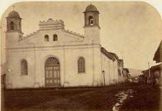 Antigua Iglesia de la Merced, donde hoy está el Banco Central, década de 1870's.