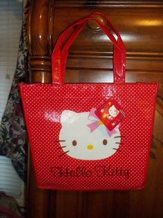 NEW SANRIO HELLO KITTY RED TOTE BAG