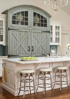This has nothing to do with your kitchen (though it could) but thoughts on incorporating a barn element into your house, since you LOVE horses!  Don't want to make you feel like you're living in a barn, but small touches here and there could be really cool!  A painting?  Food for thought...