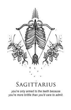 illustration and inanity by amrit brar Sagittarius Constellation, Sagittarius Quotes, Sagittarius Women, Zodiac Signs Astrology, Zodiac Art, My Zodiac Sign, Witch Tattoo, Saggitarius, Zodiac Tattoos