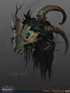 A concept for a Drustvar mask. Dark Fantasy, Fantasy Art, Character Art, Character Design, Fantasy Wizard, Dragon Mask, Pixel Animation, Warcraft Art, Concept Weapons