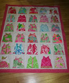 Baby Girl Shift Dress quilt made with Lilly by shellylisser, $185.00