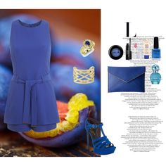 How To Wear Blue Summer Outfit Idea 2017 - Fashion Trends Ready To Wear For Plus Size, Curvy Women Over 20, 30, 40, 50