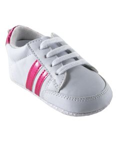 This White & Pink  Stripe Sneaker is perfect! #zulilyfinds